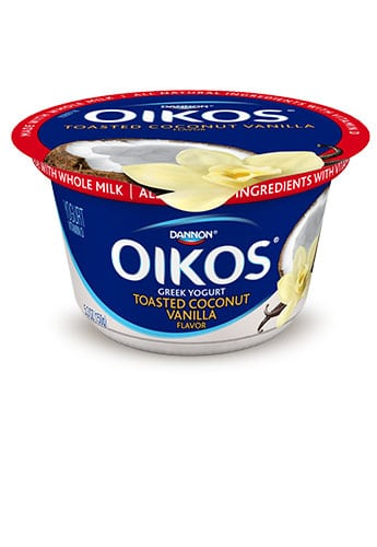 Dannon Toasted Coconut vanilla